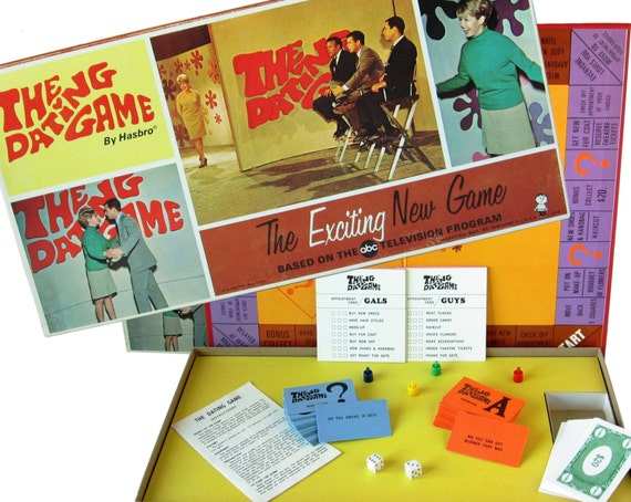 the dating game vintage board game 1960s board game 1960s tv. Black Bedroom Furniture Sets. Home Design Ideas
