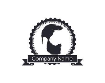Premade Vintage Beard Logo, Watermark, Business Logo