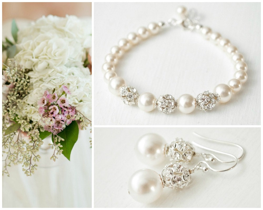 Classic Wedding Jewelry SET Pearl Bridal By SarahWalshBridal
