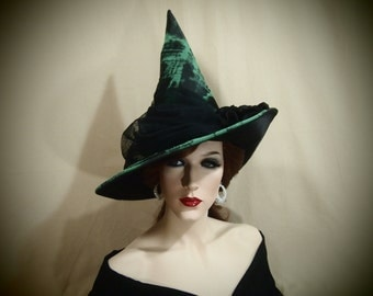 """Witch Hat """"Emerald Enchantment"""""""
