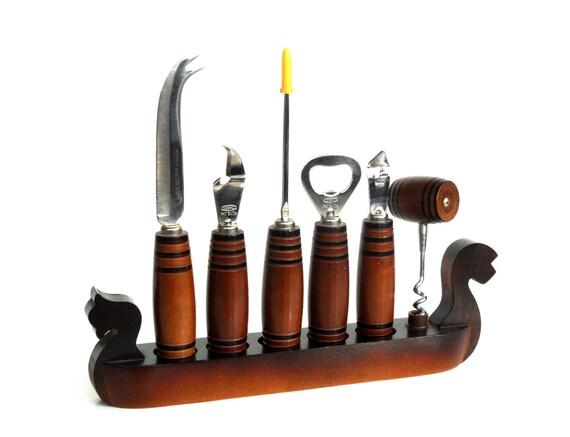 bar tool set vintage gondola cork screw wine bottle opener bar. Black Bedroom Furniture Sets. Home Design Ideas