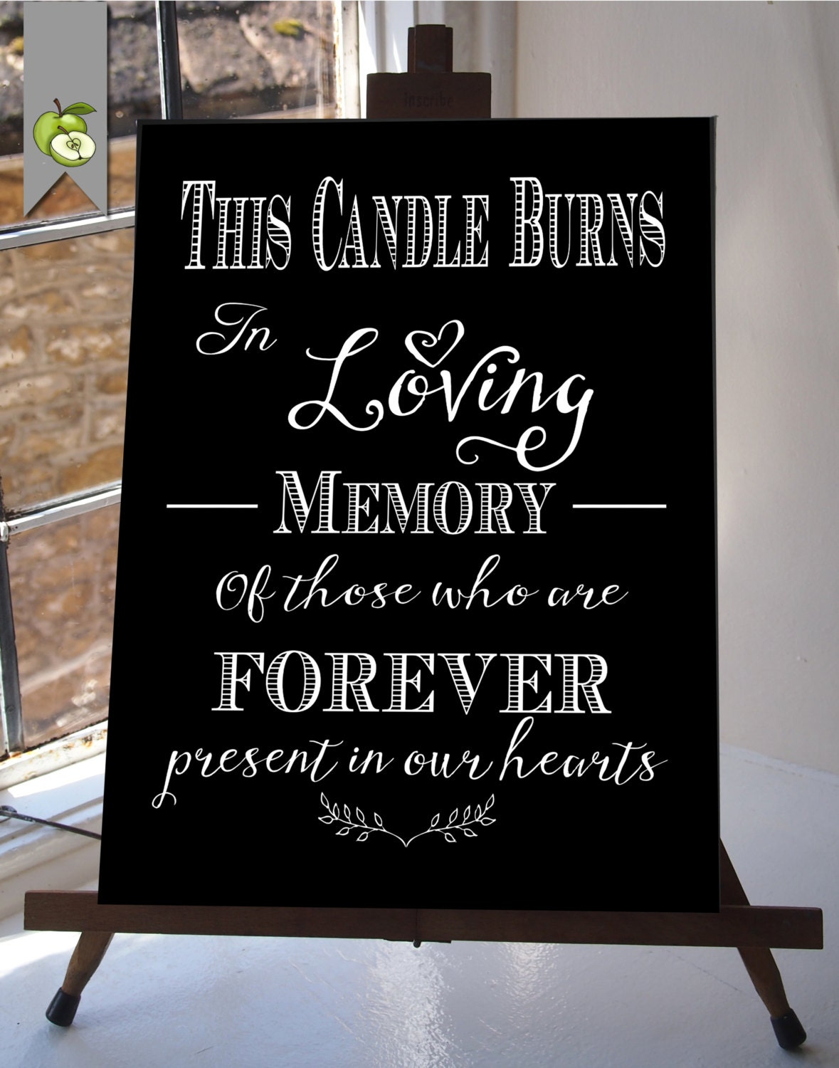 This is a photo of Remarkable This Candle Burns in Loving Memory Free Printable