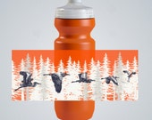 Herons in a Redwood Forest Water Bottle