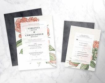 APOTHIC   wedding invitation set