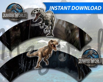 Jurassic World Cupcake Wrappers - PRINTABLE INSTANT DOWNLOAD