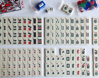 Vintage Travel Mahjong Set