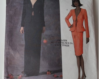 Vogue Guy Laroche Sewing Pattern 2513 Misses' Jacket & Skirt in size 12, 14, 16