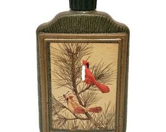 Jim Beam Cardinal Birds by James Lockhart 1970's Wiskey Decanter