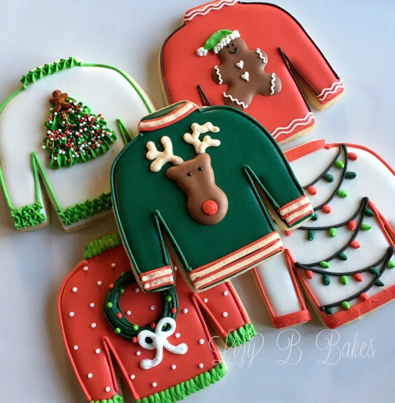 12 Ugly Christmas Sweater Cookies