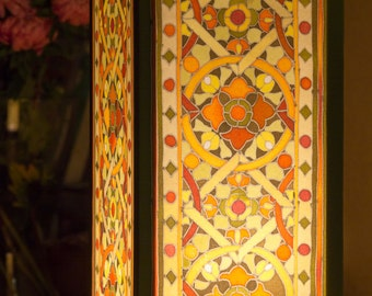 """Lantern """"Stained Glass of Riga"""" in Olive"""