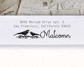 Self-Inking Address Stamp or Wood Address Stamp, Return Address Stamp, Envelope Stamp, Custom Stamp - Malcomn