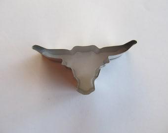 Miniature Longhorn cookie cutter