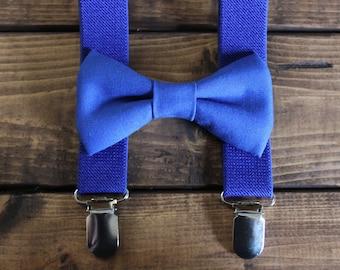 Bowtie & Suspenders- Marine Blue