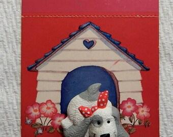 """2 Puppy Dog """"Be Mine"""" Valentine Pins"""