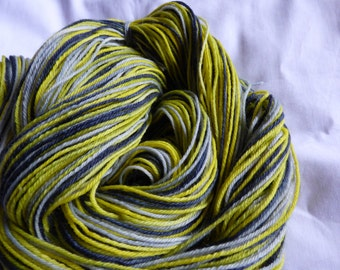 Self-Striping Hand Dyed Sock Yarn - Superwash Merino - 100g (3.5 oz)