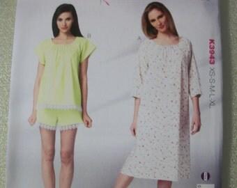 Kwik Sew K3943 Misses XS-S-M-L-XL Sleepwear
