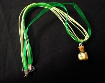 Fruit Jar Organza Cord Necklace