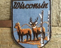 Wisconsin Vintage Souvenir Travel Patch by Voyager