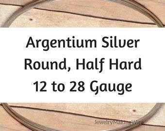 Argentium Silver Wire, Round, Half Hard, 12 14 16 18 19 20 21 22 24 26 28 Gauge, Jewelry Making Wire