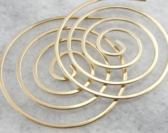 The Tribe of Gold Threads: Large Wire Spiral Earrings WQ8KVW-N