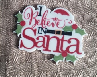 Believe in Santa resin-xams resin- holiday crafting-crafting centers-hair bow centers-