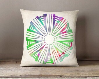 Mandala Pillowcase, Boho throw pillow, Accent Pillow, Decorative Pillow, Modern pillow cover, Indoor pillow, Home decor gift