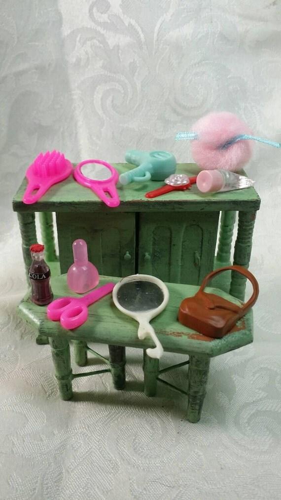 Barbie Bathroom Set. Barbie Brush. Barbie Blow Dryer. Barbie
