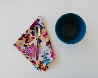 Handmade Cotton Napkins in Flower Heaven(set of 4)