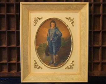 Vintage Blue Boy Framed Picture