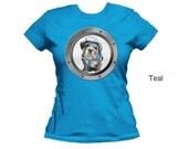 Bulldog women's t-shirt,  puppy t-shirt,  pet t-shirt, cotton t-shirt, fitted t-shirt, form fitting shirt, women's shirt, jersey tee