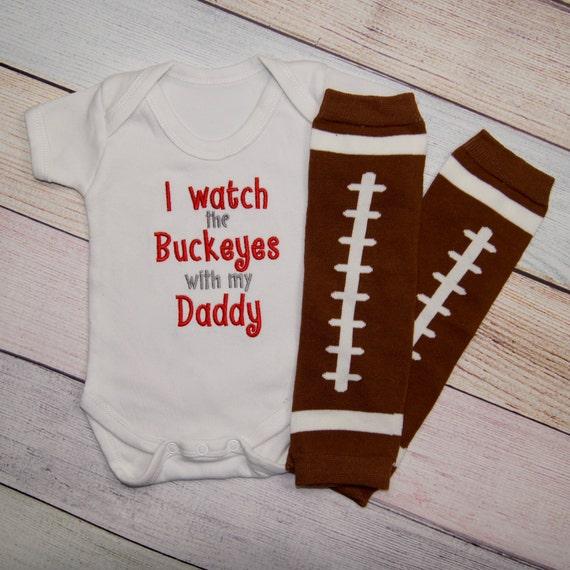 Ohio State Buckeye Baby e piece Embroidered Baby Bodysuit