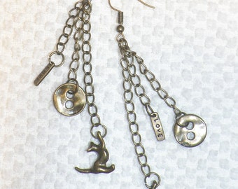 Buttons, Love and Kittens in Bronze Chains