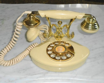 Onyx Telecommunications CUTIE French Style Vintage Rotary Phone