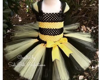 Bumble Bee Costume, Bumble Bee Tutu, Bee Tutu, Bee Costume, Bee Tutu with Wings