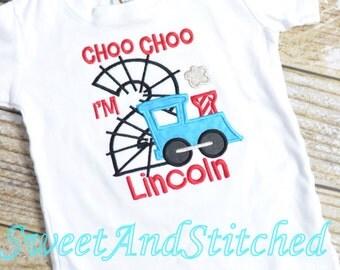 Choo Choo I'm Two Birthday shirt - Choo Choo I'm Two Shirt,  second birthday train shirt, baby boy train birthday