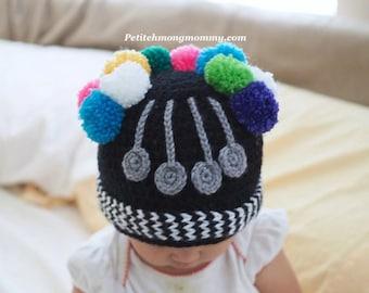 Hmong Colorful Pom Pom Hat (Phuam Co)