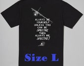 Size LARGE Ready to Ship Custom Black Spectre Tshirts (design on back only)