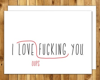 Naughty Card. Love Card. Anniversary Card. Card For Him. Birthday Card Boyfriend. Dirty Card. Proofreaders Mark
