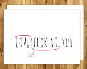 Naughty Card. Love Card. Anniversary Card. Card For Him. Birthday Card Boyfriend. Dirty Card. Proofreaders Mark