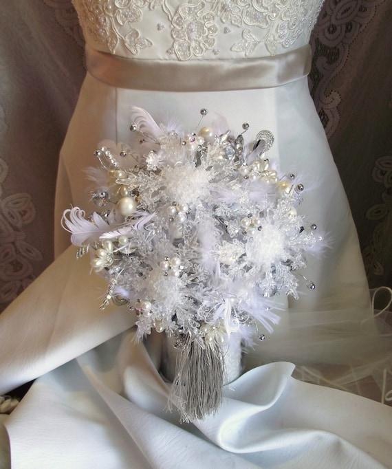 bouquet de mariage d 39 hiver bouquet de flocon de neige. Black Bedroom Furniture Sets. Home Design Ideas