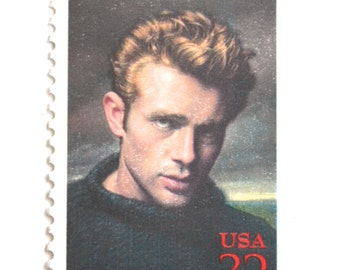 10 James Dean Postage Stamps // Ten Classic Movie Star Postage Stamps