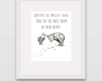 The Smallest Things Classic Winnie the Pooh Nursery Wall Art INSTANT DOWNLOAD