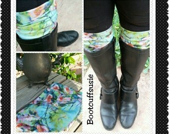 Boot toppers, boot cuffs, Packaged for gift giving made with knit jersey fabric :)