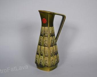 Bay West German Fat Lava Bay  vase design by Bodo Mans  -  251-35