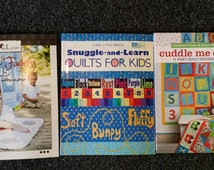 Baby Quilt Book Collection Fast & Furious Family, Snuggle and Learn, and Cuddle Me Quick Baby Kid Quilt Patterns