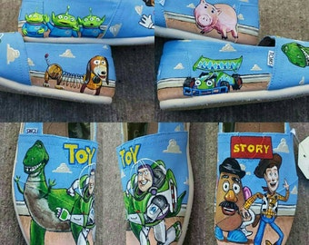 Hand Painted Toy Story Toms