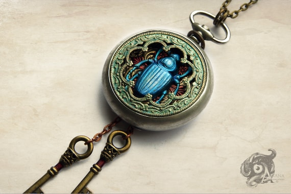 Scarab Beetle Pocket Watch
