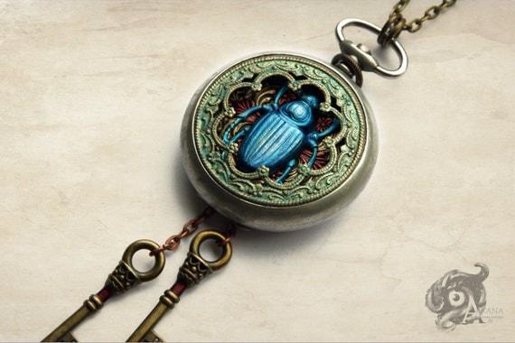 Scarab Beetle Pocket Watch