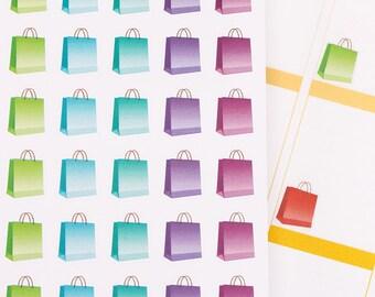 100 Life Planner Stickers For Erin Condren ECLP Plum Filofax Kikki Happy Scrapbook Department Store Shopping Mall Paper Bag Time Reminder R9