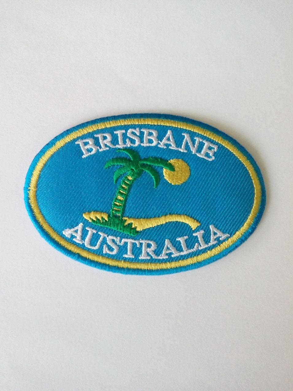 Embroidered brisbane australia wording iron on patch badge